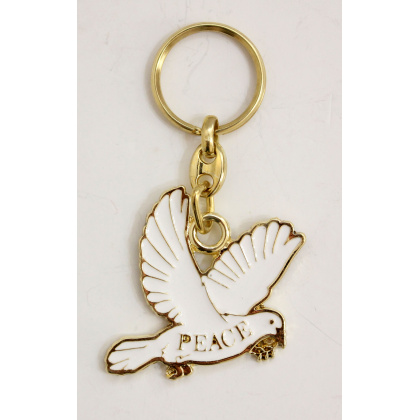 dove peace key chain