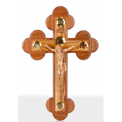 Large Olive Wood wall Crucifix