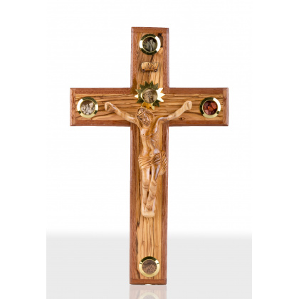 Large olive Wood wall mounting Crucifix