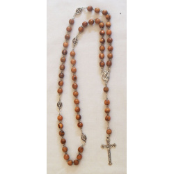 Catholic olive wood rosary